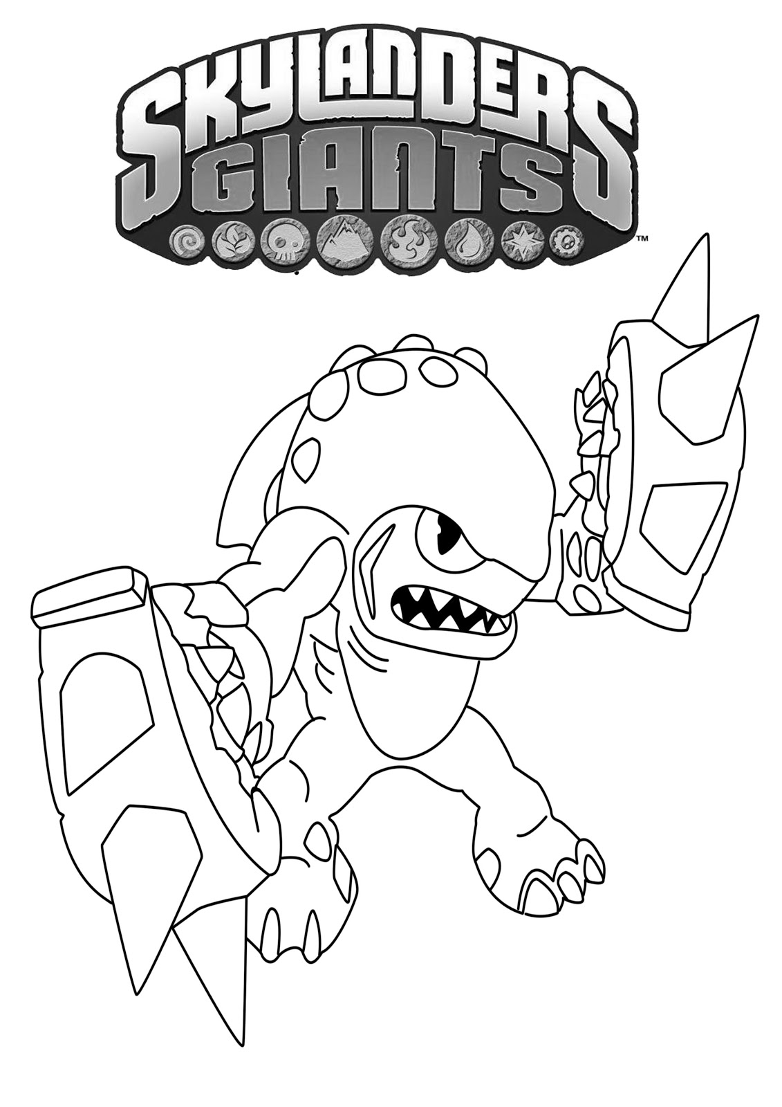 skylanders coloring pages terrafin restaurant - photo#30