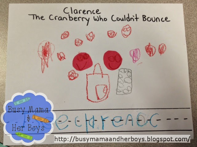 http://www.amazon.com/Clarence-Cranberry-Who-Couldnt-Bounce/dp/0967259630/ref=sr_1_1?ie=UTF8&qid=1417241582&sr=8-1&keywords=clarence+the+cranberry
