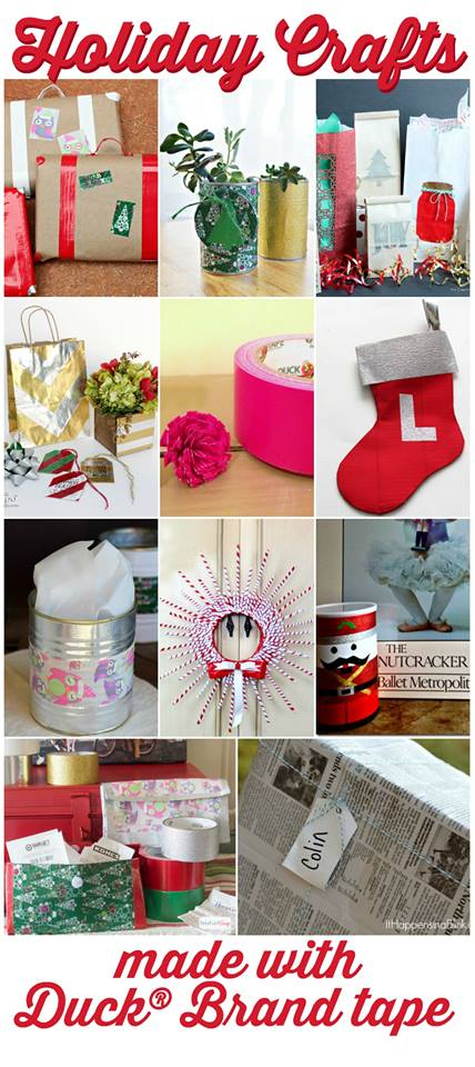 Great holiday crafts made with Duck brand tape!