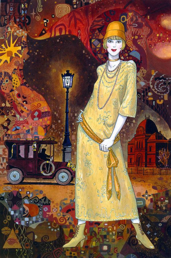 Helen Lam | Chinese-born Canadian Art Déco painter