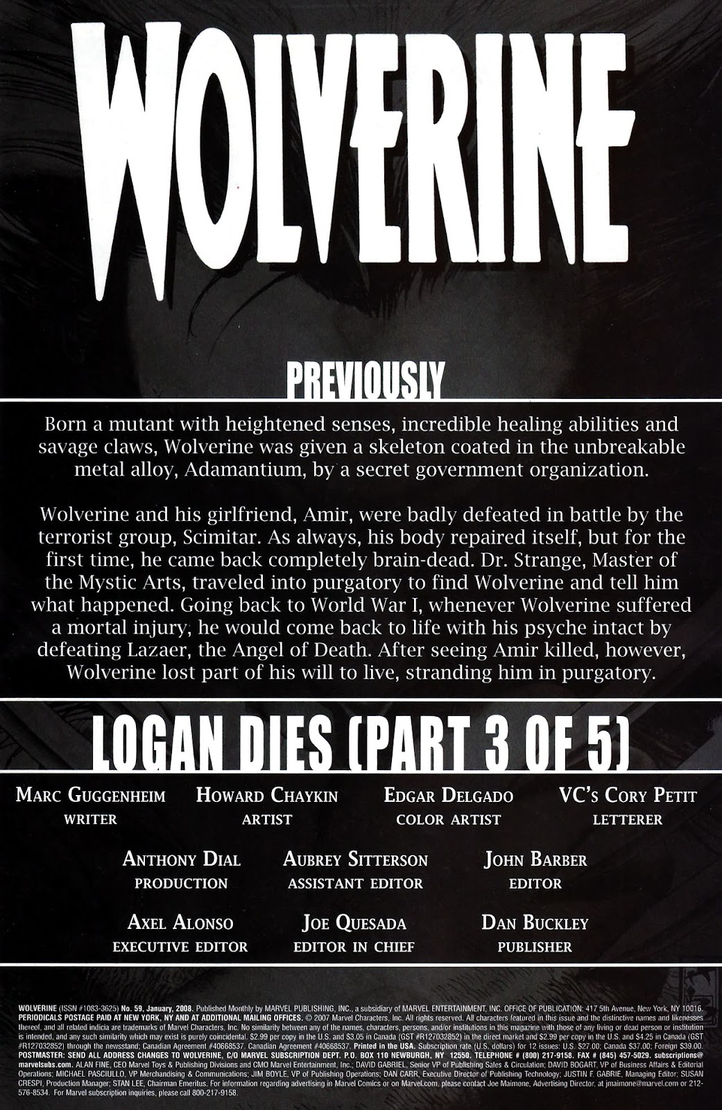 Read online Wolverine (2003) comic -  Issue #59 - 2