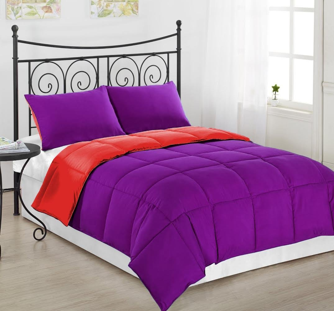 Total Fab: Solid Purple Teen Bedding Sets