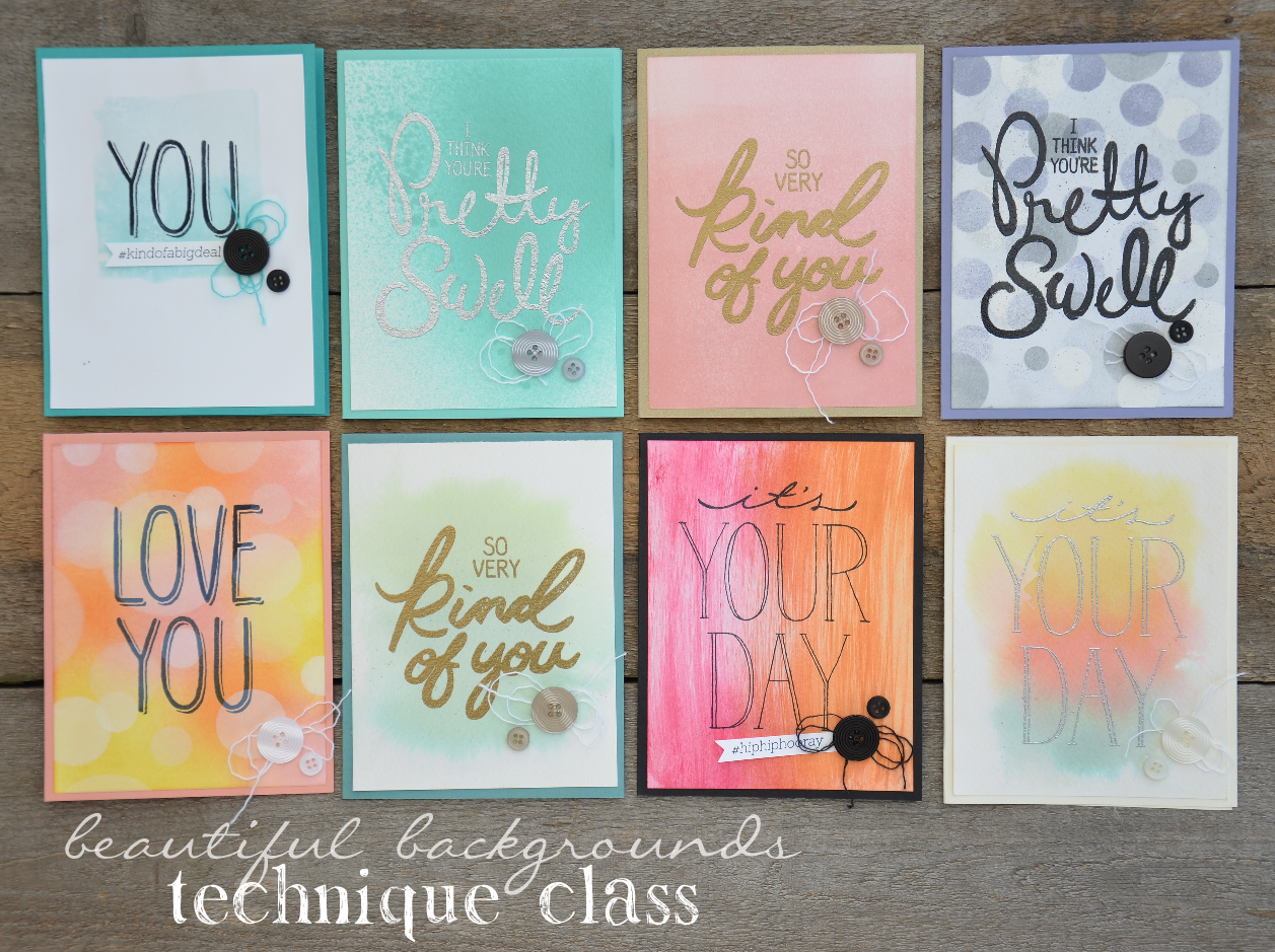 Stampin' dolce: beautiful backgrounds class!   registration is open!