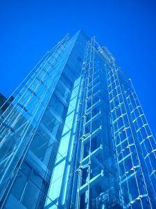 Edificio en vidrio