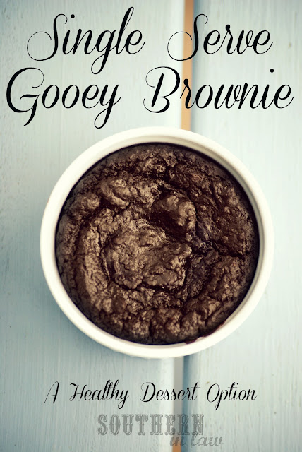Single Serve Healthy Brownie - Microwave or Oven