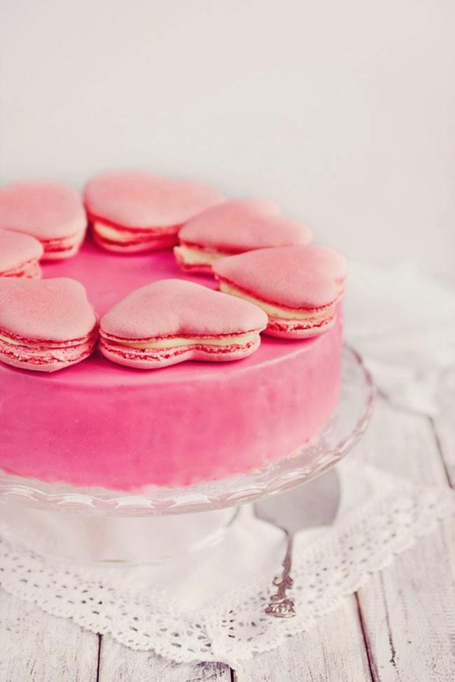 valentine's day macarons, heart macarons, valentine's day cake, heart cake