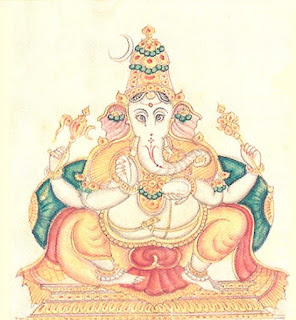 Picture of Ekakshara Ganapati form of Lord Ganesh