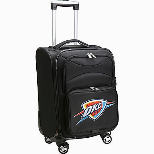 "Oklahoma City Thunder NBA 20"" Domestic Spinner Luggage"