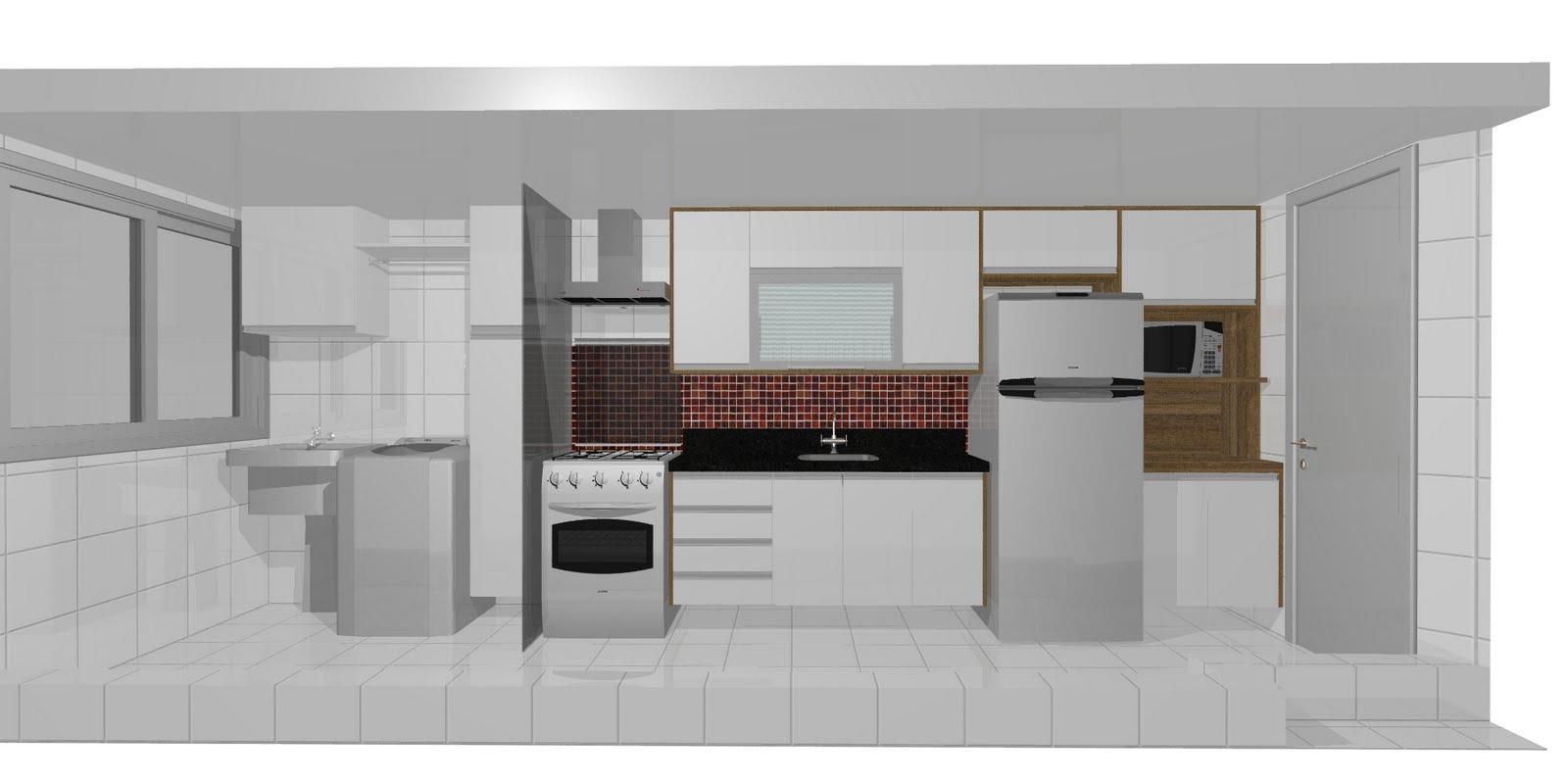 Cozinha estilo corredor #604537 1600 800