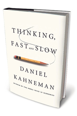 """thinking fast and slow """"thinking, fast and slow is a masterpiece--a brilliant and engaging intellectual saga by one of the greatest psychologists and deepest thinkers of our time ."""