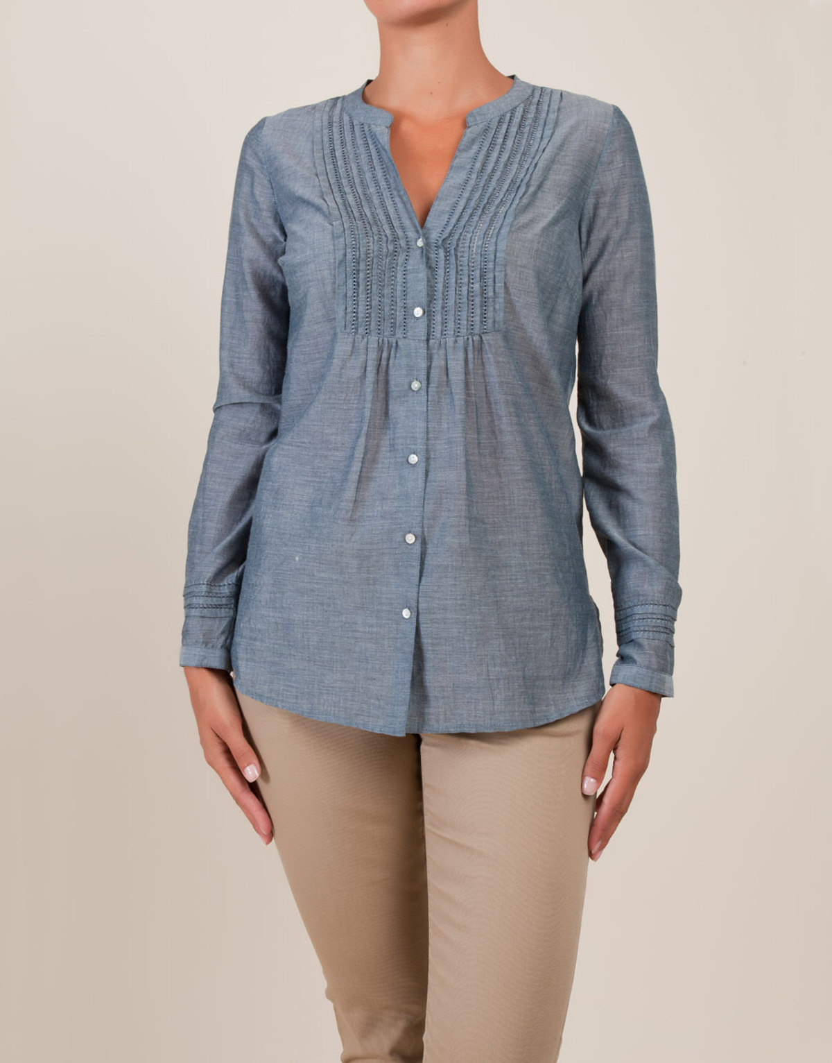 RUSH COLLECTION: BLUSAS PARA DAMAS EN CHAMBRAY