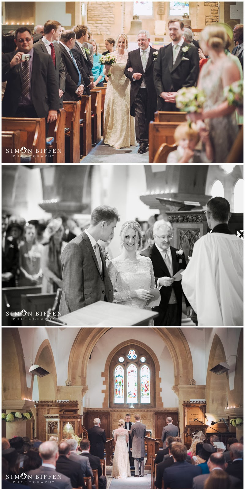 Arrival of the bride at Monkton Combe church