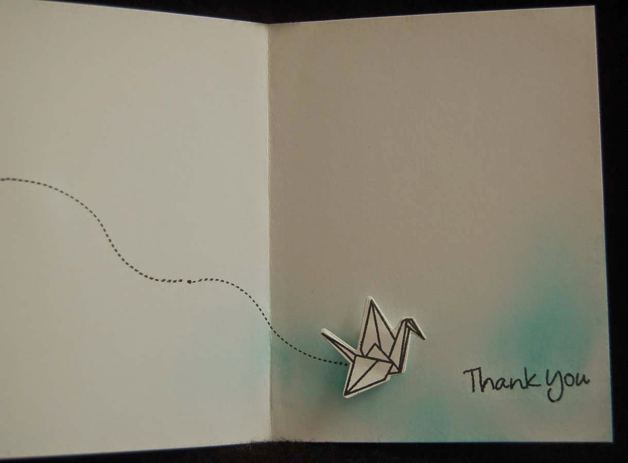 lynn s craft blog super fast paper plane thank you card the folded paper airplane stamp dotted curved line and the sentiment are from a lawn fawn set that i purchased at hm ben franklin crafts