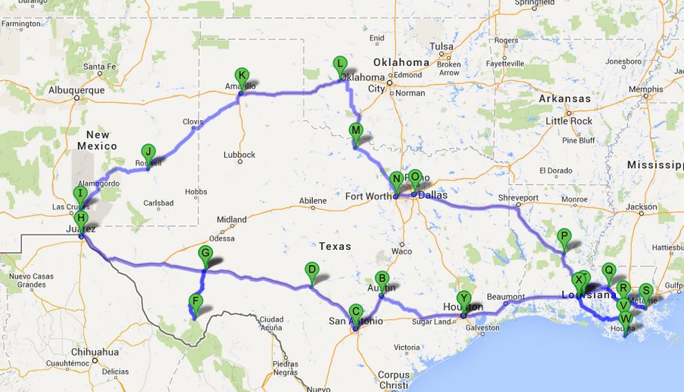 Visiter Le Texas La Louisiane Et Le Nouveau Mexique