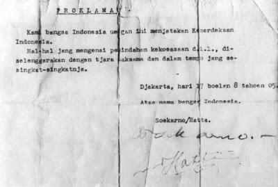 Naskah Proklamasi Kemerdekaan RI 1945