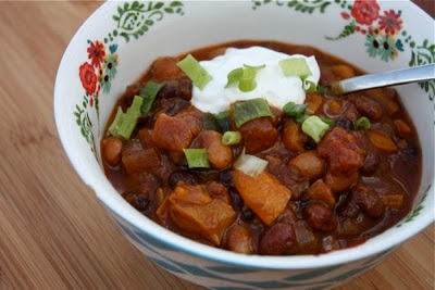 Twenty+ Amazing From Scratch Recipes for Slow Cooker Pumpkin Chili featured on SlowCookerFromScratch.com