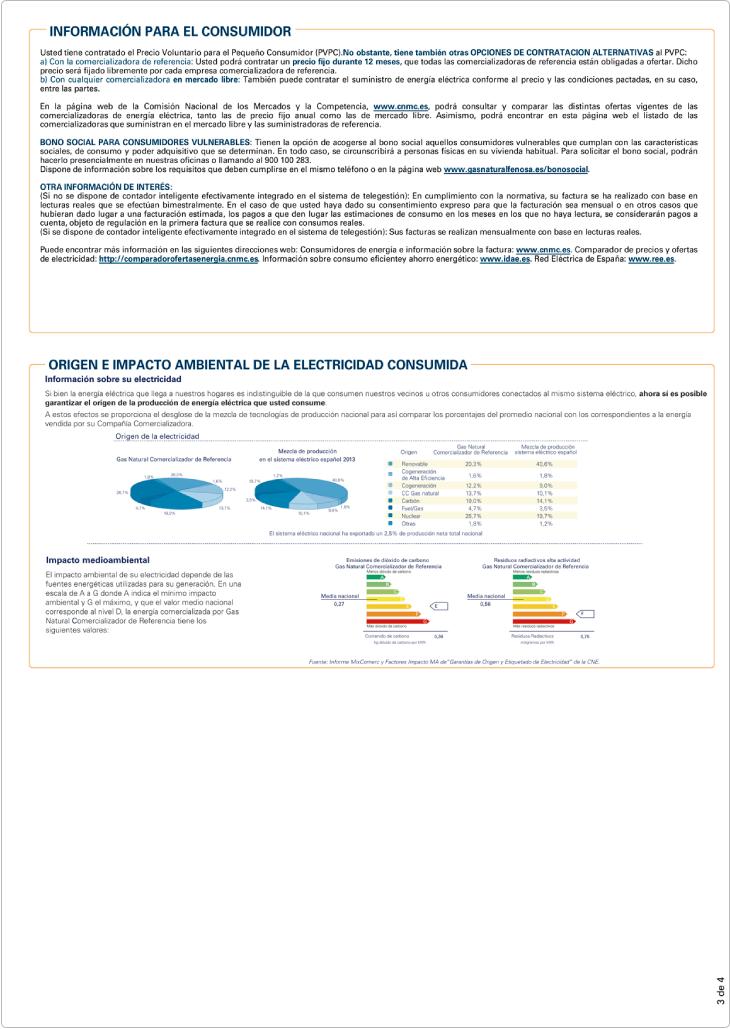 Modelo factura de luz Gas Natural-SUR página 3