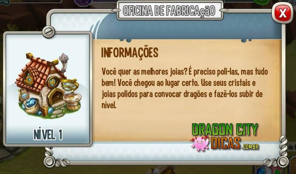 Oficina de Fabricação do Dragon City - Mundo Antigo