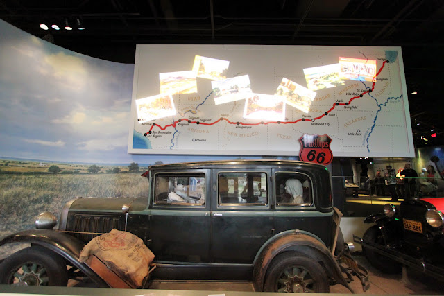 U.S Route 66 is the oldest and main historical highway in the USA at National Museum of American History in Washington DC