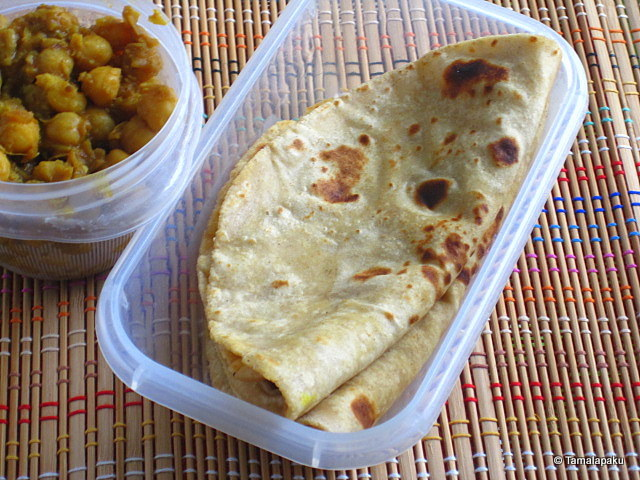 Chapati with Chana Masala
