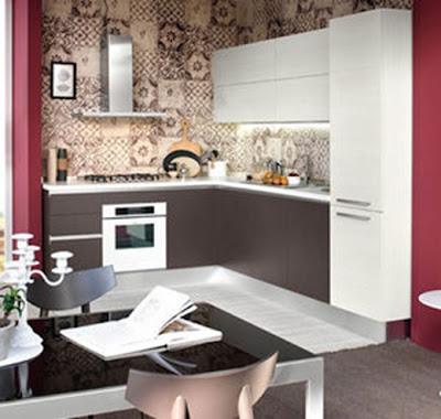 cocina moderna y pequeña