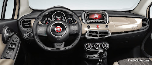 Fiat 500X Dashboard Detail