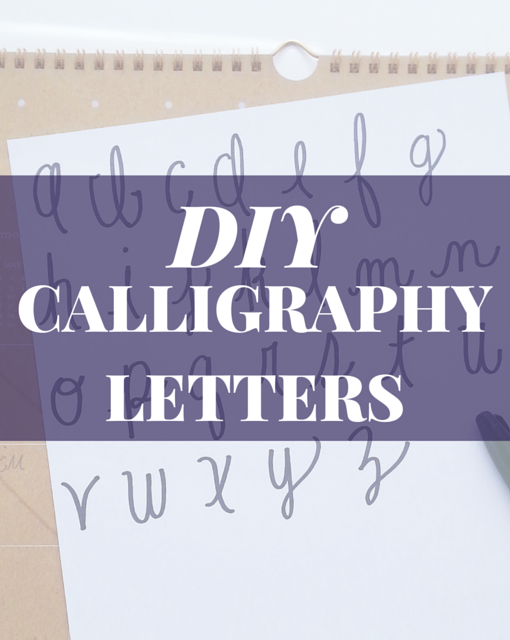 Prep for a day diy calligraphy letters