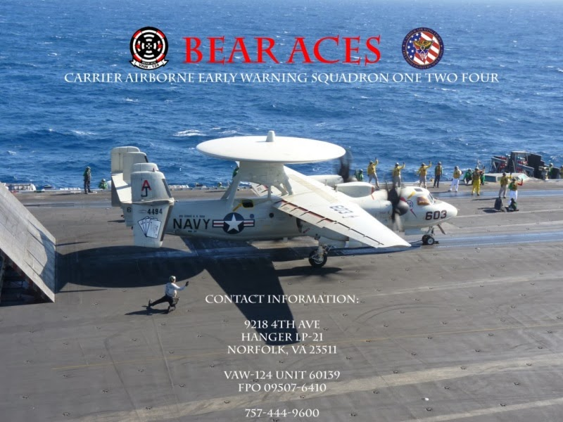 VAW-124 Bear Aces E-2C Hawkeye getting ready to take off