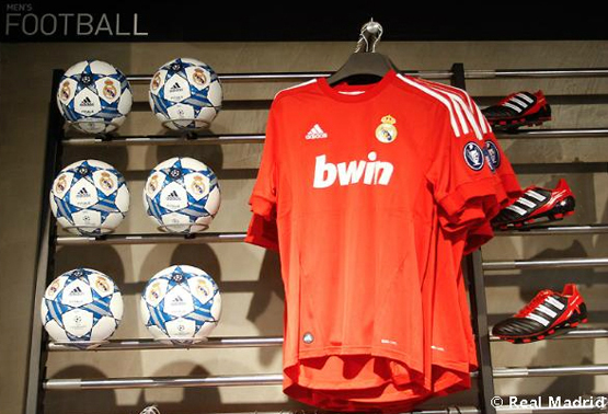 camiseta Real Madrid roja 2012