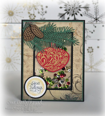 Diana Nguyen, Christmas, Our Daily Bread Designs, shaker card