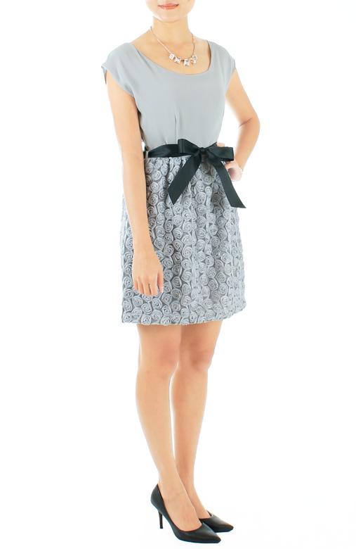 Rosette Dream Dress – Mist Blue