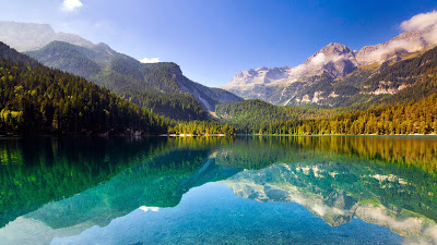 Papel de Parede Montanhas e Lago Natural scene desktop hd wallpaper