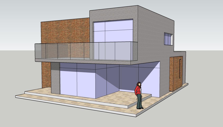 SketchUp herramienta CAAD Modelado 3D a partir de una foto (2)