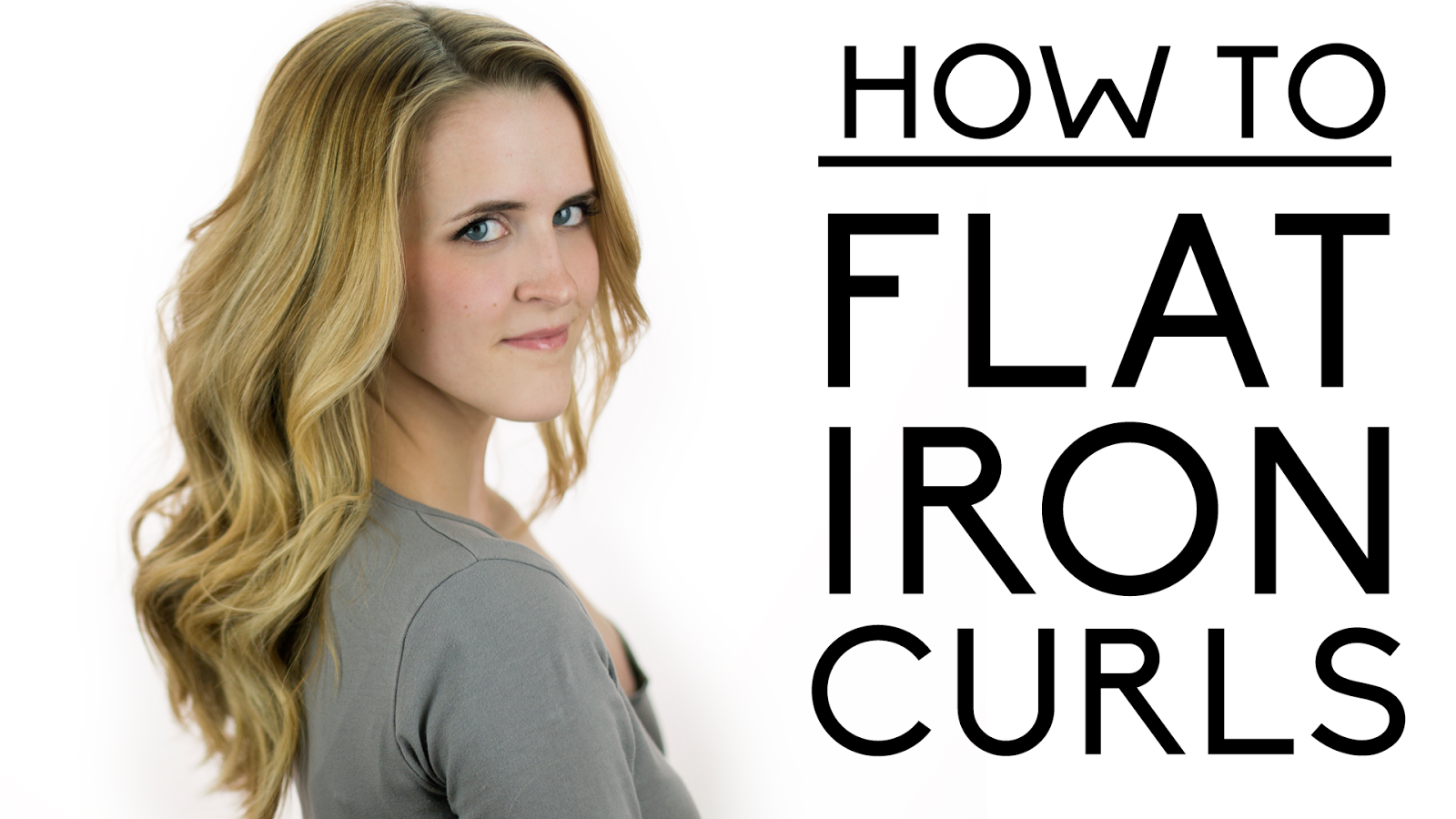 How to Make Curls With a Flat Iron Flat Iron Curls Instead