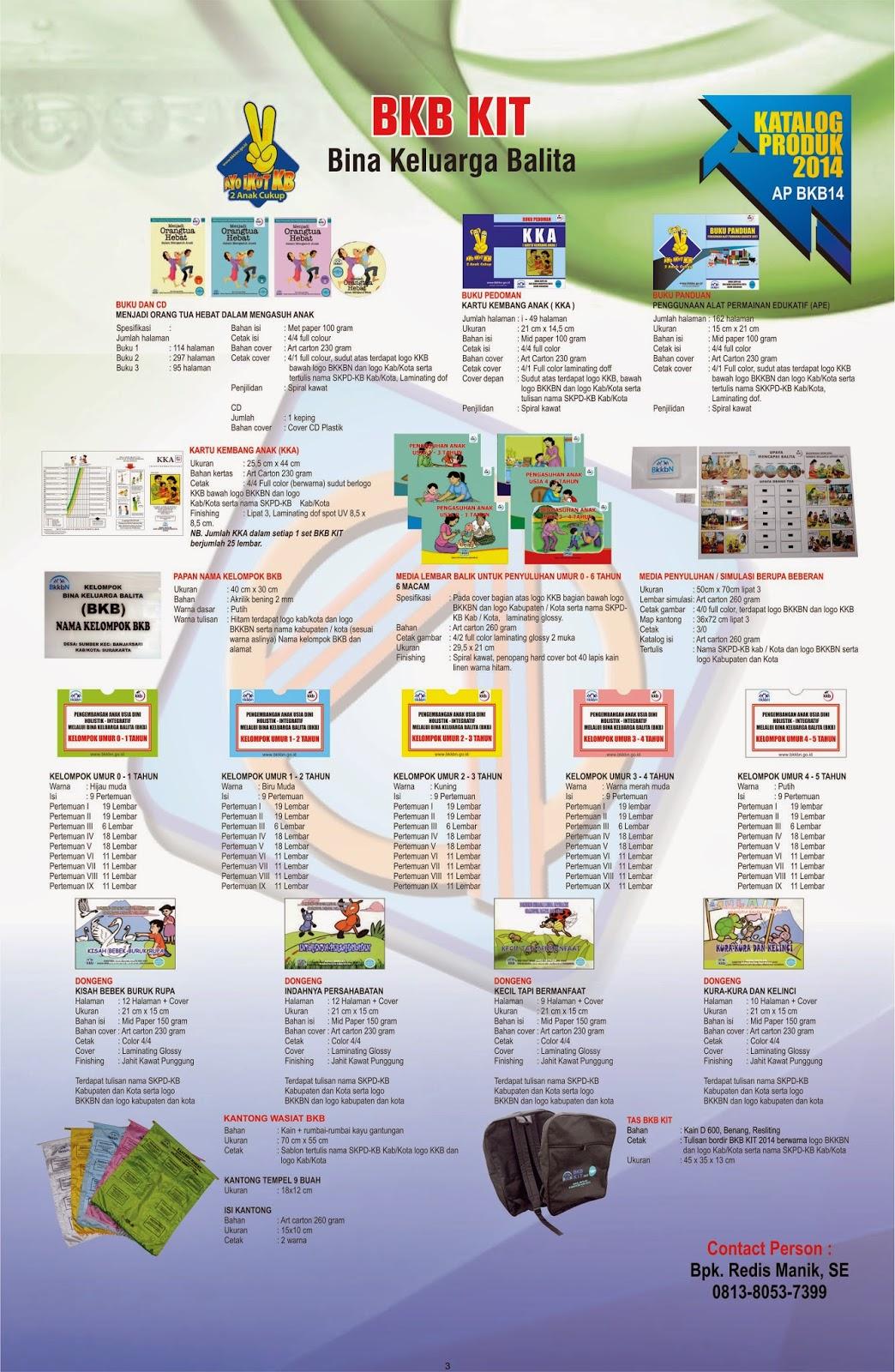 PENGADAAN BINA KELUARGA BALITA (BKB) KIT 2014 ~ bkb kits 2014
