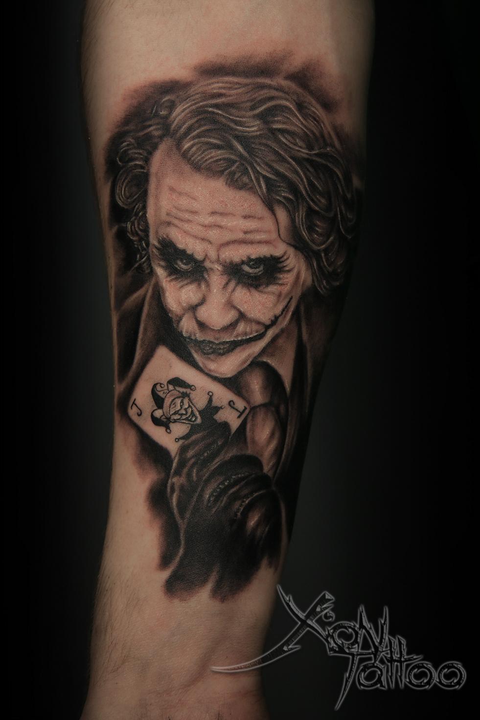 Joker Tattoo Dark Templar Tattoo Studio Tatuażu Oświęcim