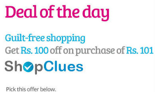 Shopclues 100 off on 101 coupon banner