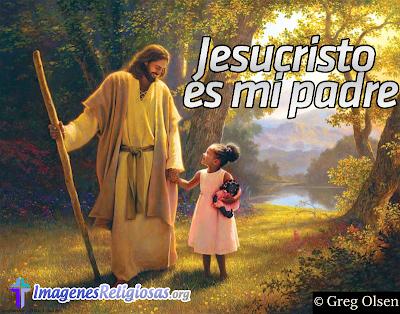 Imagen de jesús con niña