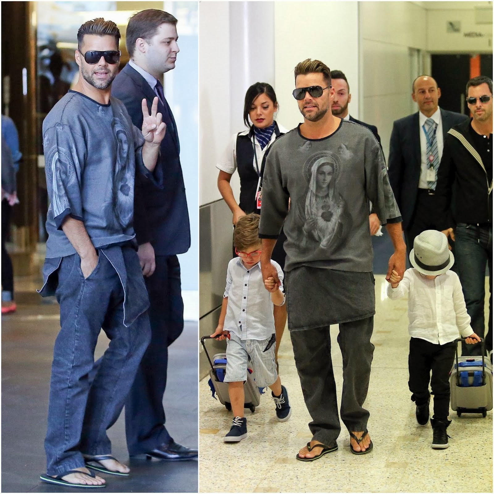 Ricky Martin in Dolce & Gabbana - Sydney International Airport / 00O00 Menswear Blog oooooh 000000h London