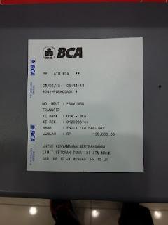 enkosa sport toko online baju bola dengan kualitas grade ori made in thailand Bukti transfer pembayaran jersey ke rekening yang telah di sediakan enkosa.com