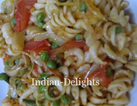 Pasta - Indian style cooking
