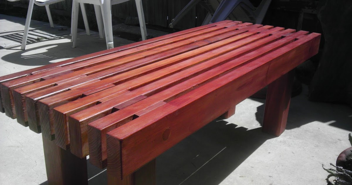 Christina and Ted Buy a House: DIY Redwood Garden Bench