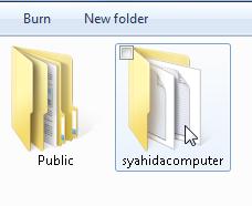 folder tanpa tanda kunci