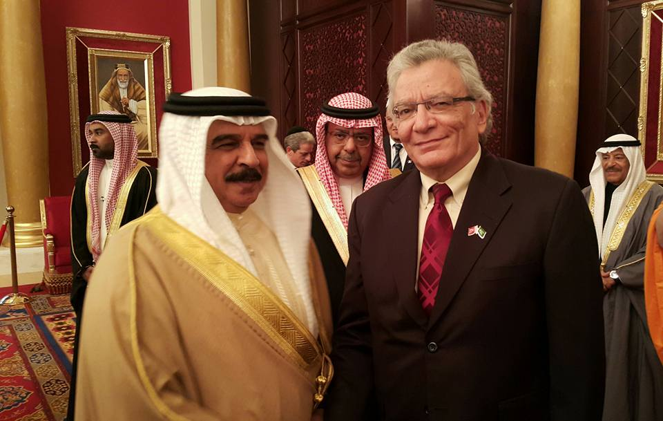مع جلالة ملك البحرين حمد بن عيسى آل خليفة