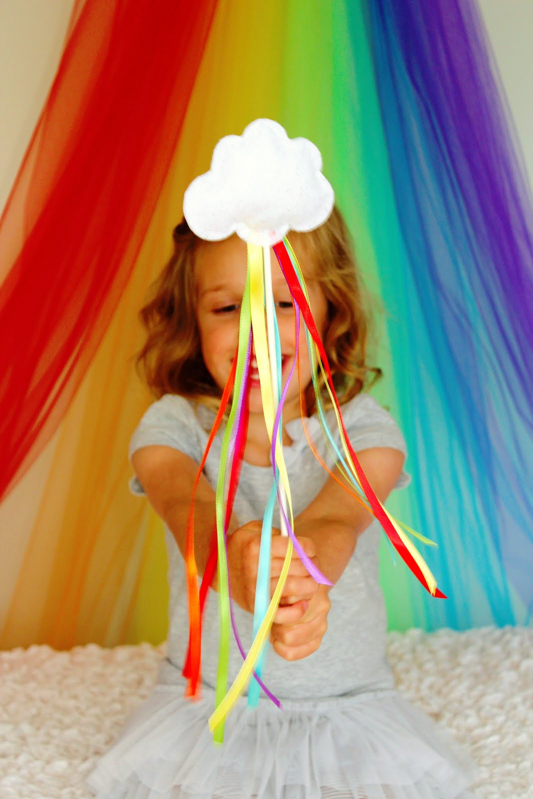 Icing designs rainbow week diy rainbow wands for Birthday wand