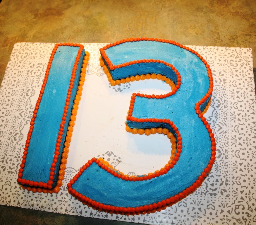 Number 13 Cake By The Birthday Boys