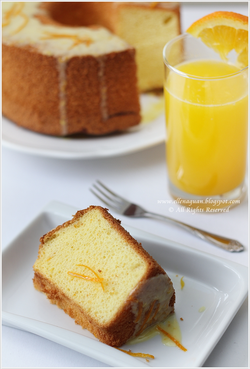 Cuisine paradise singapore food blog recipes reviews and travel orange chiffon cake - Cuisine orange ...