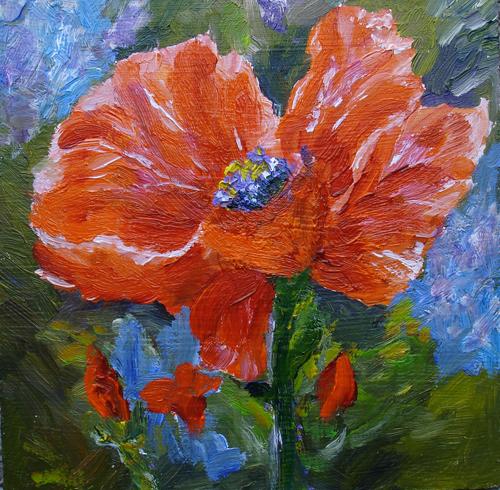 Mary jo zorad still life poppy flower oil painting on hardboard mj still life poppy flower oil painting on hardboard mj zorad mightylinksfo
