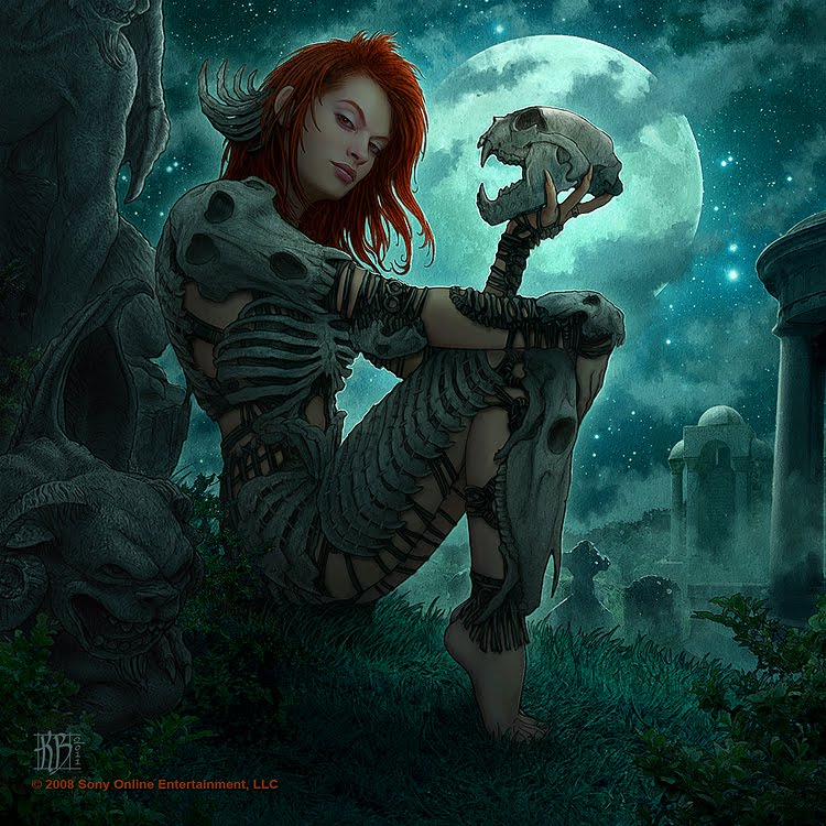 Wallpaper Most Stylish Women Warriors In Digital Arts: Tower Of The Archmage: New Magic Item: Bone Armor