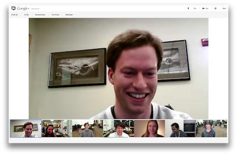 دردشة الفيديو الجماعية في جوجل بلس